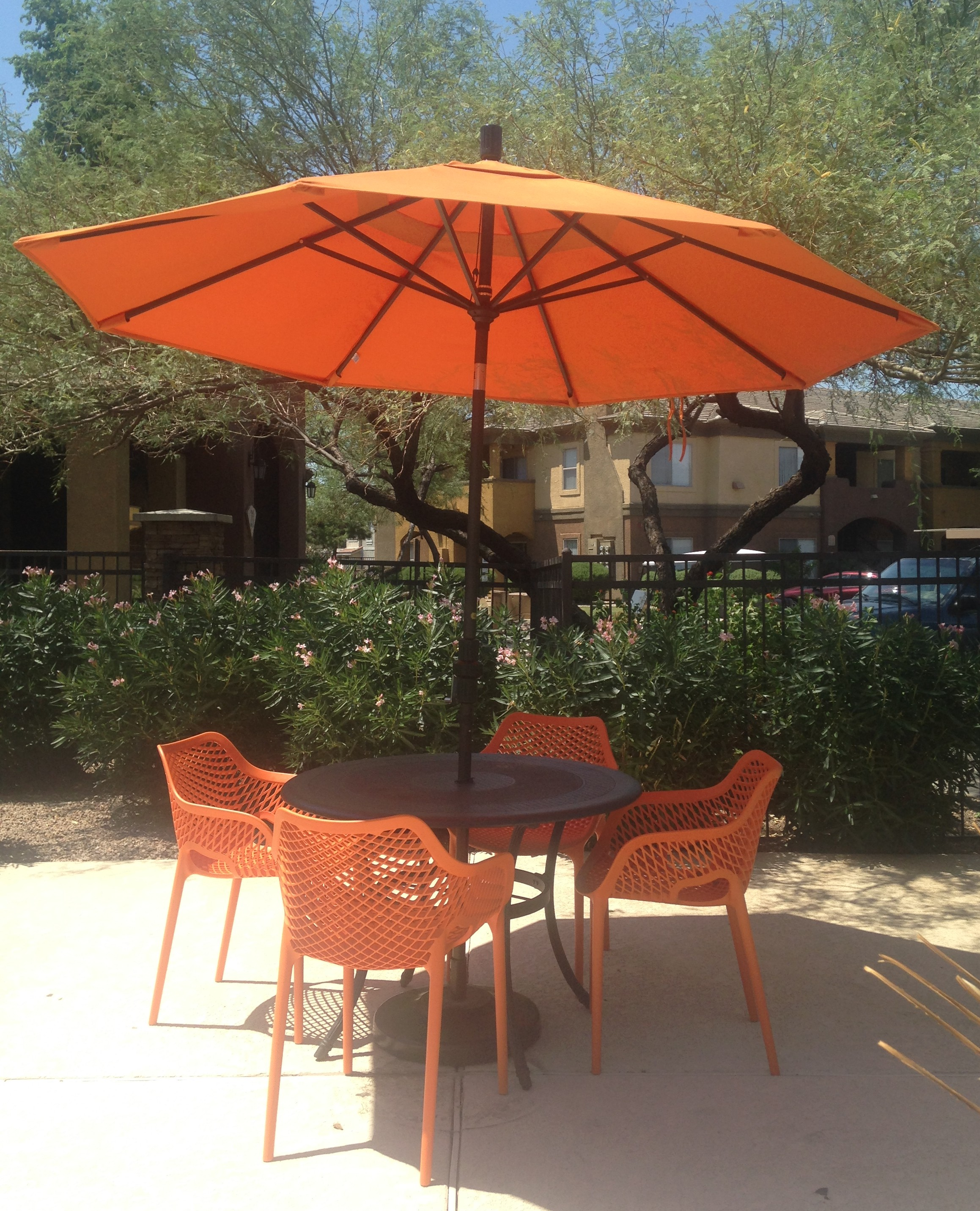 Commercial Resin Pool Furniture Client Showcase - Commercial table umbrellas