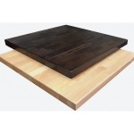 What are the most common table tops sizes for a restaurant
