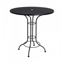42-inch round bar height mesh table