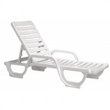 grosfillex bahia chaise lounge -- white frame