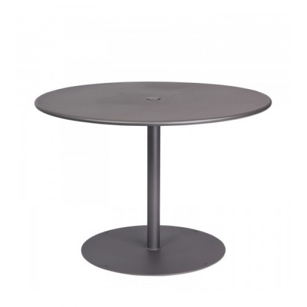 13l3ru42 42 Round ADA Solid Top Restaurant Dining Umbrella Table with Pedestal Base Commercial Wrought Iron
