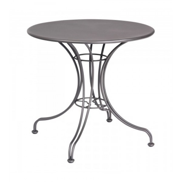 13l4rd30 30 Round Solid Top Wrought Iron Commercial Restaurant Dining Cafe Table Ornate Base