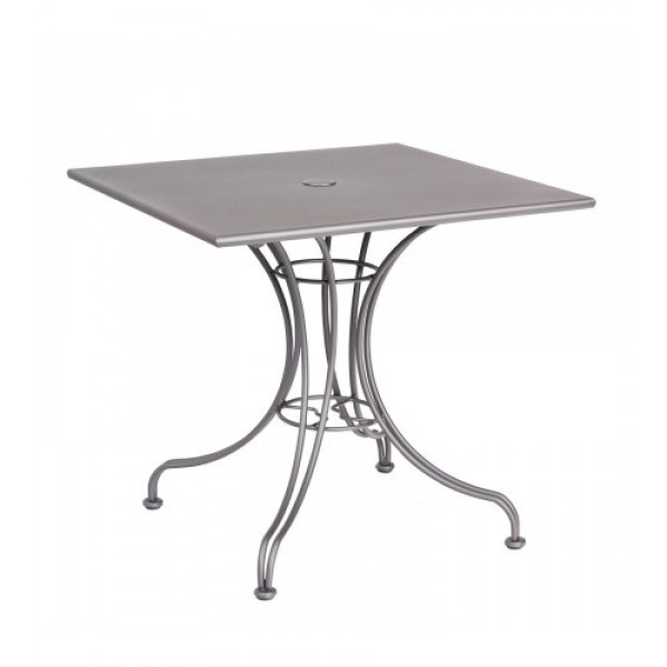 13l4sd30 30 square Solid Top Wrought Iron Commercial Restaurant Dining Cafe Table Ornate Base