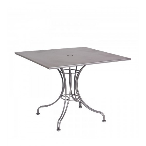 13l4su36 36 square Solid Top Wrought Iron Commercial Restaurant Dining Cafe Table Ornate Base