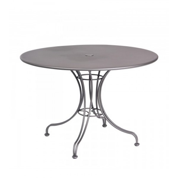 14l4rd42 42 Round Solid Top Wrought Iron Commercial Restaurant Dining Cafe Table Ornate Base