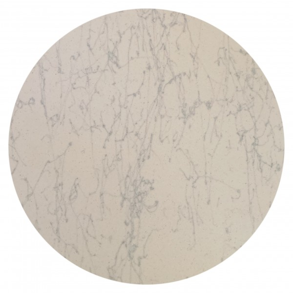 20 inch round Fiberglass Faux Carrara Marble Outdoor Commercial Restaurant Hotel Cafe Hospitality Table Top