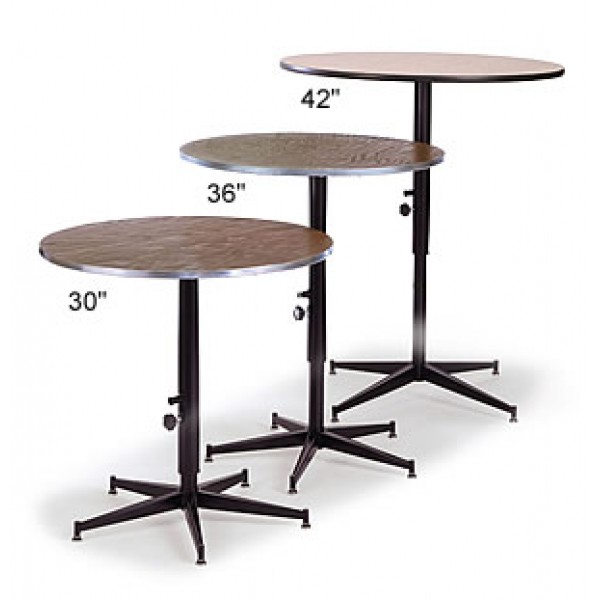 "24"" Round Adjustable Height Cocktail Table"