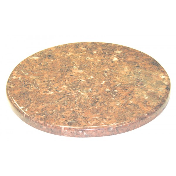 "24"" Round Cultured Marble Table Top with 2"" Edge"