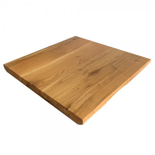 24x30 white oak wood live edge restaurant table tops industrial
