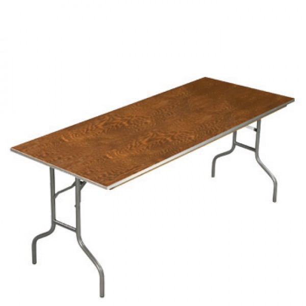 "30"" x 72"" Rectangular Folding Banquet Table"