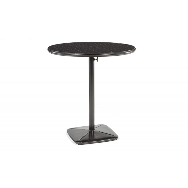 "36"" Round Bar Cafe Table With Umbrella Hole And Cast Plug"