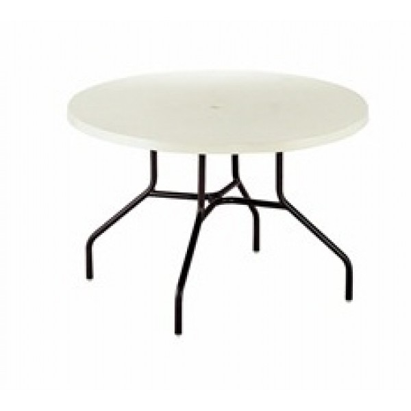 "36"" Round Slate Fiberglass Top Dining Table"