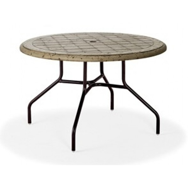 "42"" Round Cobblestone Fiberglass Top Dining Table"