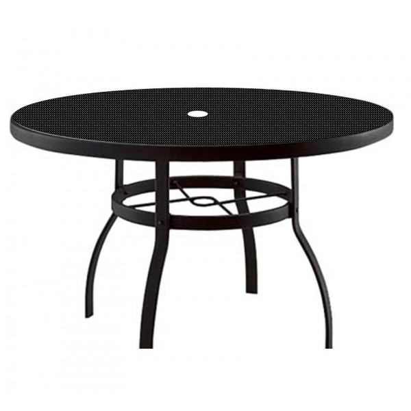 "42"" Round Deluxe Umbrella Table with Patterned Aluminum Top"