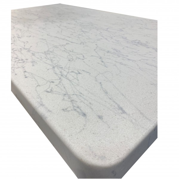 42x42 square  Fiberglass Faux Carrara Marble Outdoor Commercial Restaurant Hotel Cafe Hospitality Table Top