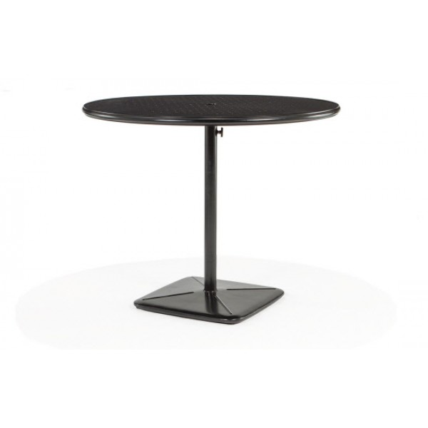 "48"" Round Bar Cafe Table With Umbrella Hole And Cast Plug"