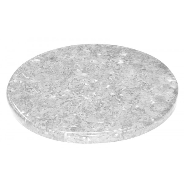 "60"" Round Cultured Marble Table Top with 1.25"" Edge"