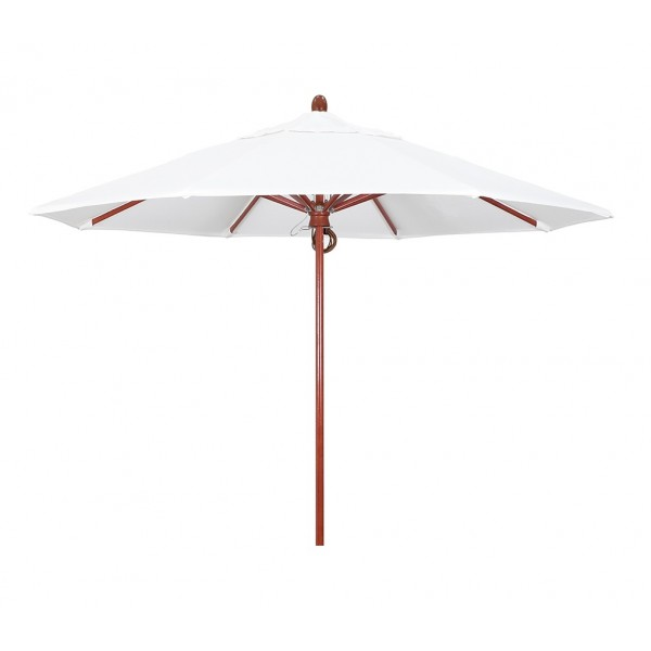 Commercial Restaurant Umbrellas 9ft Octagon Wood Composite Fiberglass Market Umbrella