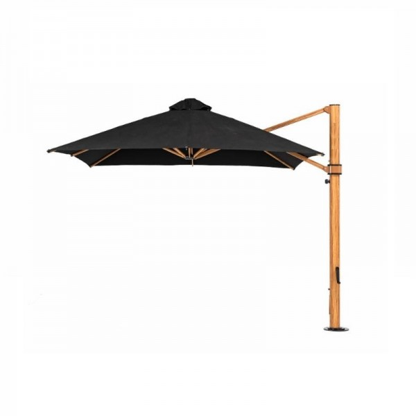 9ft Aurora Atherton Cantilevered Wood Commercial Outdoor Restaurant Pool Hotel Resort Patio Umbrella