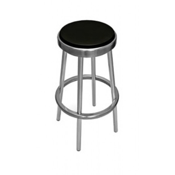 Aluminum And Wood Composite Restaurant Barstools Classic Backless Bar Stool BAL-609