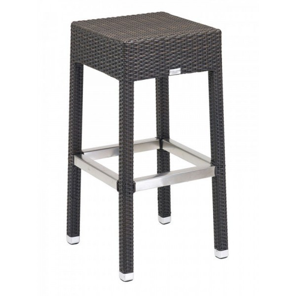 Aluminum And Wood Composite Restaurant Barstools Floridian Backless Barstool