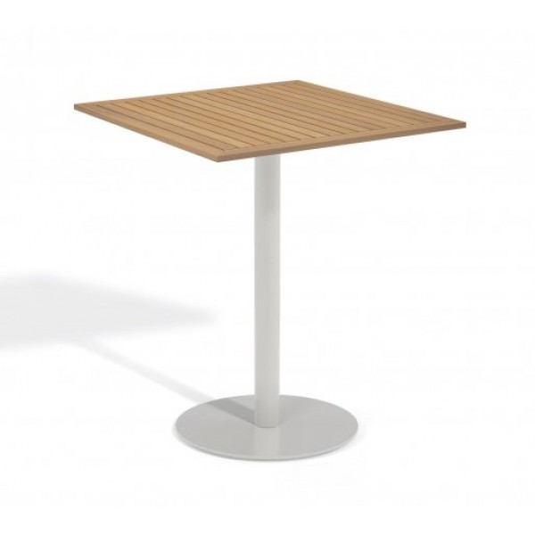 "Aluminum And Wood Composite Restaurant Bar Tables Carrillo 36"" Square Bar Table - Tekwood Natural"
