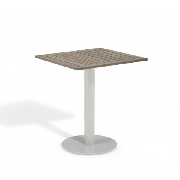 "Aluminum And Wood Composite Restaurant Dining Tables Carrillo 24"" Square Bistro Table - Tekwood Vintage"