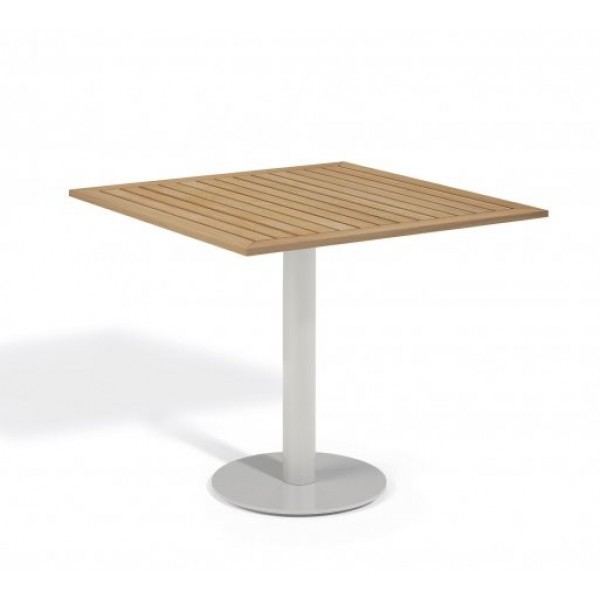 "Aluminum And Wood Composite Restaurant Dining Tables Carrillo 32"" Square Bistro Table - Tekwood Natural"