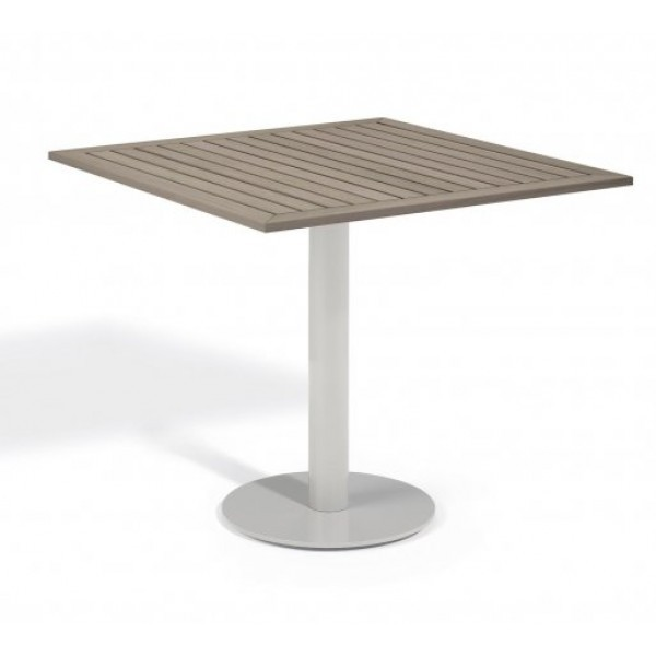 "Aluminum And Wood Composite Restaurant Dining Tables Carrillo 32"" Square Bistro Table - Tekwood Vintage"