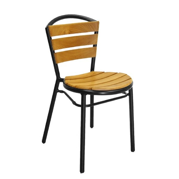 Aluminum And Wood Composite Restaurant Side Chairs Aluminum Side Chair AL-308TK