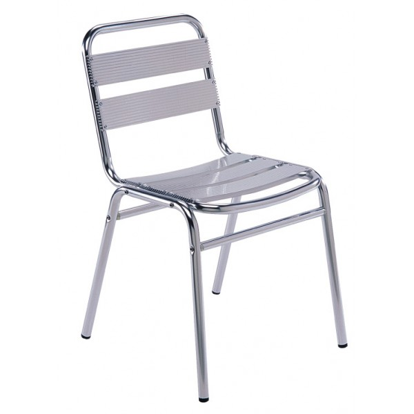 Aluminum Side Chair With Aluminum Slats AL01
