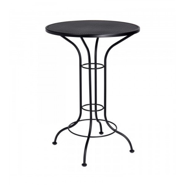 "30"" Round Bistro Bar Height Table - Mesh Top"