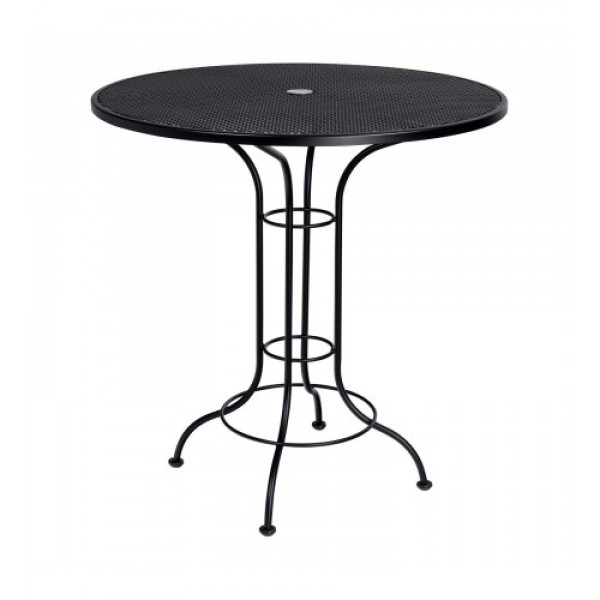 "42"" Round Bar Height Umbrella Table - Mesh Top"
