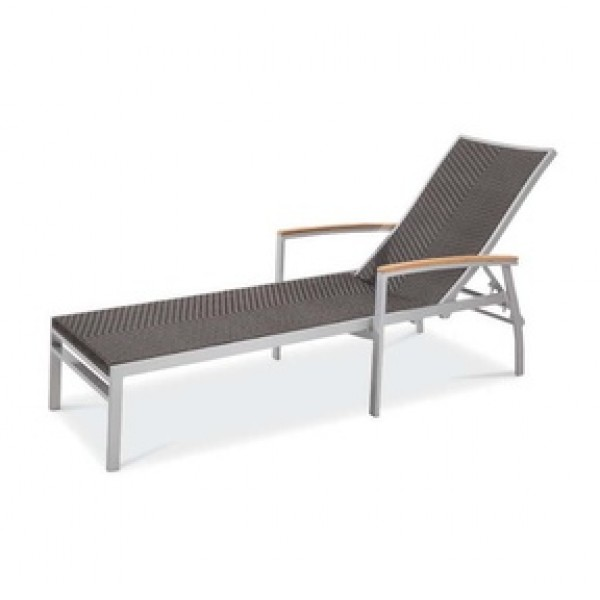 Bayhead Sun Lounger with Arms - Woven Wicker
