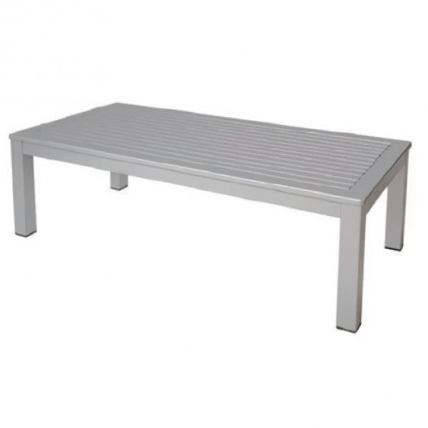 Belmar Aluminum Upholstered Outdoor Lounge Commercial Hospitality Pool Restaurant Hotel Coffee Table