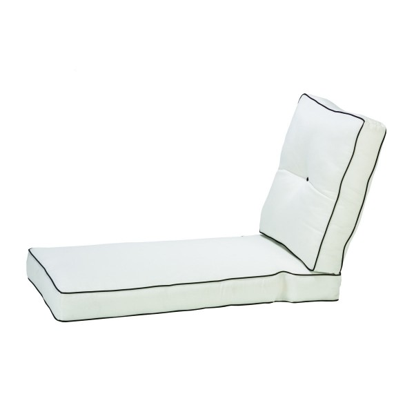 Box Chaise Lounge Cushion with Double Welt