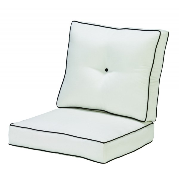 Box  Dining Chair Cushion with Double Welt