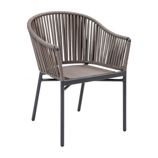 CAPT-AC Woven Upholstered Outdoor Transitional Global Commercial Restaurant Resort Arm Chair Occassional