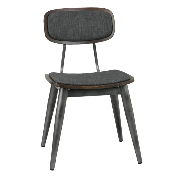 Steel and Beech Wood Hospitality Side Chair - San Remo