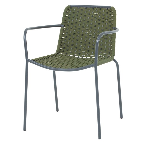 Outdoor Stacking Aluminum Arm Chair for Hospitality