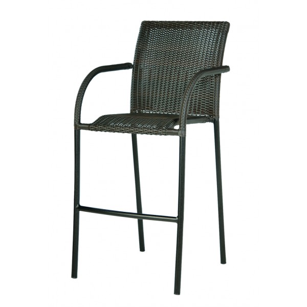 Chalet Bar Stool with Woven Arms