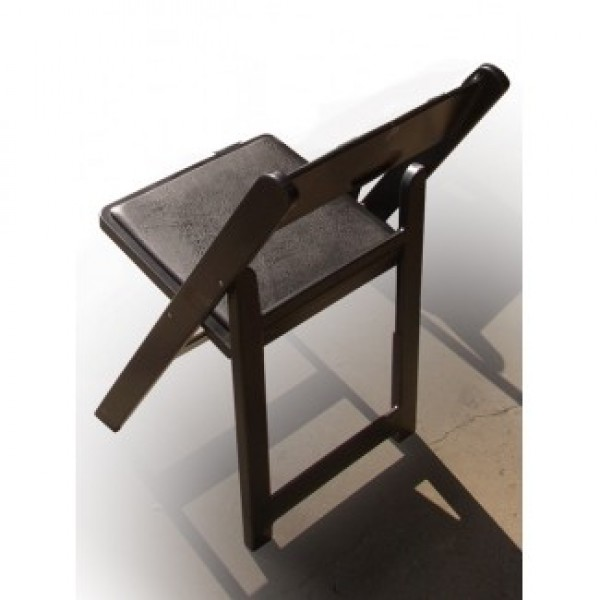 Chip Folding and Stacking Chair - Black