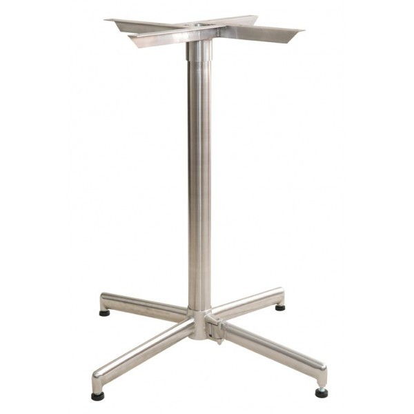 Commercial Restaurant Table Bases Self Stabilizing Stainless Steel Outdoor Table Base