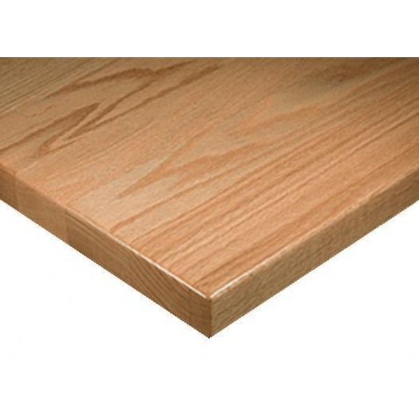 "Commercial Restaurant Table Tops 24"" x 30"" Rectangular Solid Wood Economy Plank Table Top"