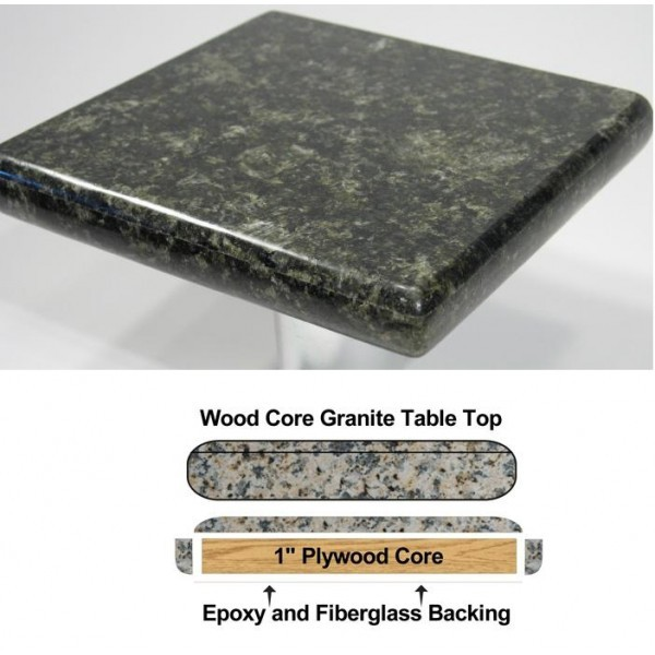 "Commercial Restaurant Table Tops 30"" Square Premium Granite Table Top"