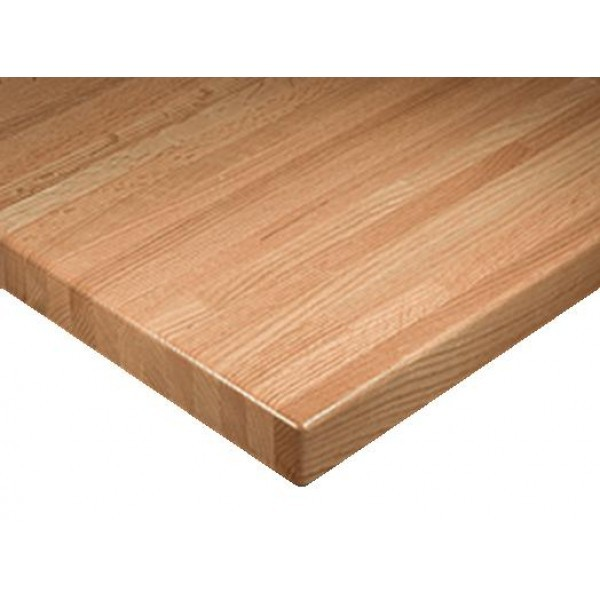 "Commercial Restaurant Table Tops 30"" x 42"" Rectangular Solid Wood Premium Butcher Block Table Top"