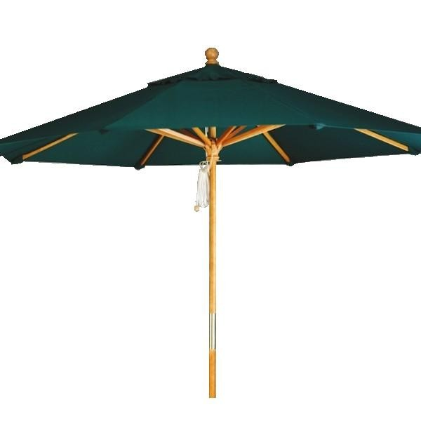 "Commercial Restaurant Umbrellas 9ft Octagon Cafe Market Umbrella with 2"" Diameter Pole"