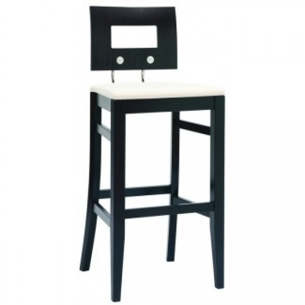Contemporary Restaurant Solid Beech Wood Bar Stool CFC-352DF