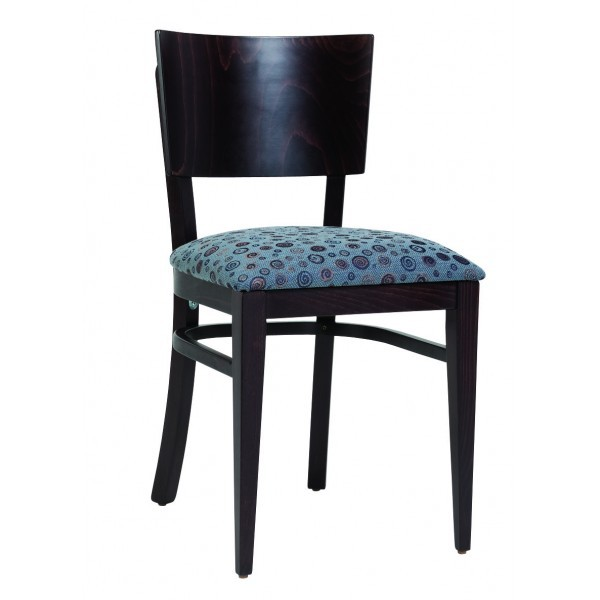 Contemporary Restaurant Solid Beech Wood Side Chair CFC-118F