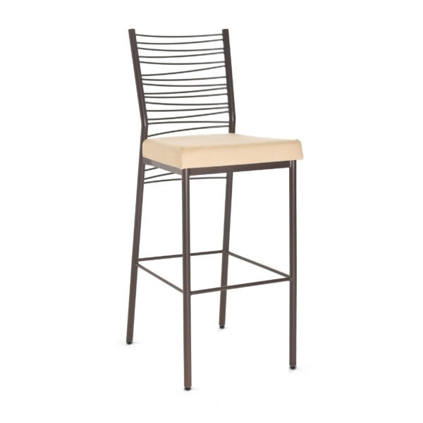 Crescent 49123-USMB Hospitality distressed metal dining stool
